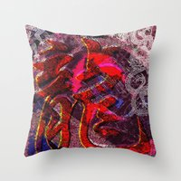 Neon Encyclopedia Throw Pillow
