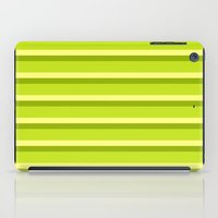 Lime Green Stripes iPad Case