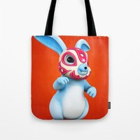 Lucha Rabbit-Blue Brothe… Tote Bag