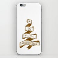 Golden Christmas Ribbon iPhone & iPod Skin