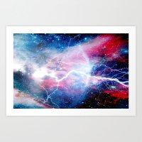 Starred Lightning Art Print