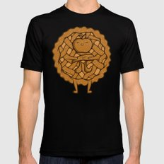 Apple Pi Black SMALL Mens Fitted Tee