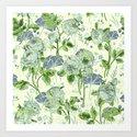 soft floral Art Print