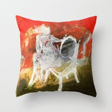 Woman & Chair Throw Pillow