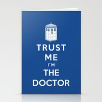 Trust Me I`m The Doctor Stationery Cards