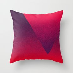 OMBRE / Blackberry Throw Pillow
