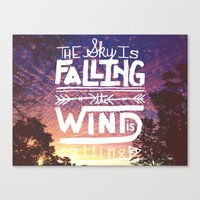 The Sky Is Falling, The … Canvas Print