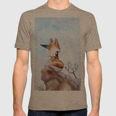 Fox Mens Fitted Tee Tri-Coffee SMALL