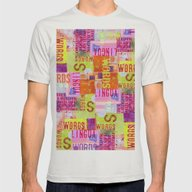 Words II Mens Fitted Tee Silver SMALL