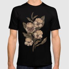 Pansy Black SMALL Mens Fitted Tee