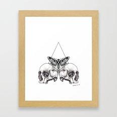 Skull moth Framed Art Print