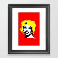 Amanda Lepore X Marilyn … Framed Art Print