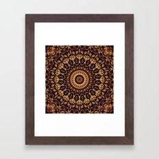 Autum Colors Mandala Framed Art Print