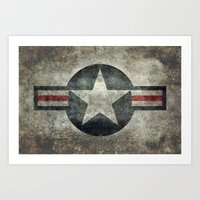Stylized Tribute of the US Air force Roundel insignia #1 Art Print