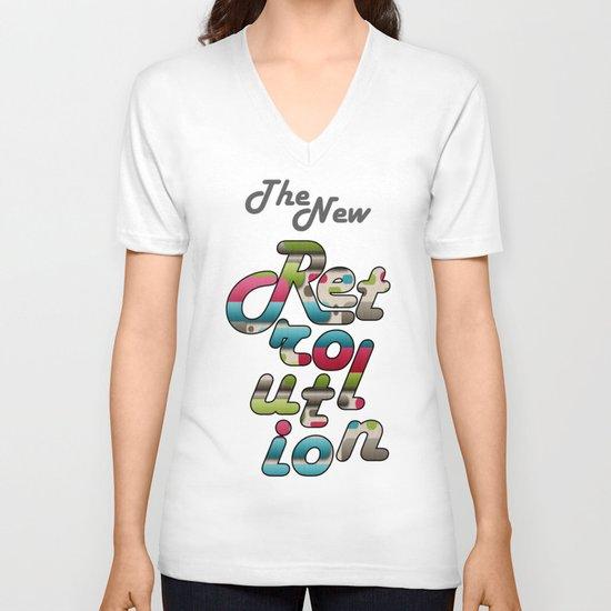 The New Retrolution. V-neck T-shirt