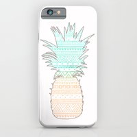 iPhone Cases featuring Tribal Pineapple  by Sunkissed Laughter