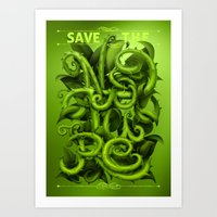 Save The Nature Art Print