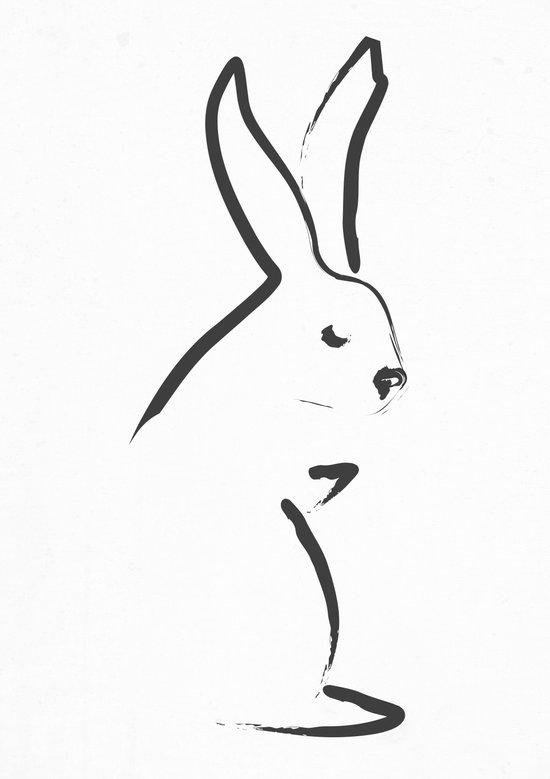 Zen Snow Bunny Art Print