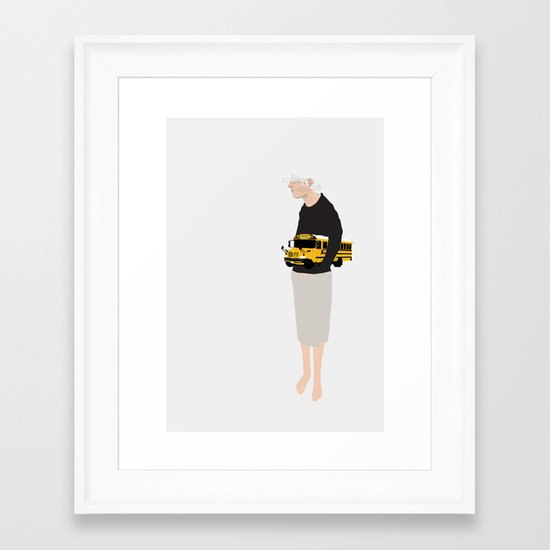 Paper Bus Framed Art Print