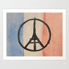 Paris French Flag Art Print