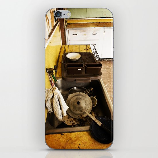 Dirty Dishes iPhone & iPod Skin