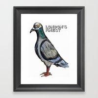 London's Finest: The Grey Pigeon Framed Art Print