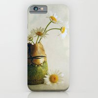 iPhone & iPod Case featuring Daisies in a Handmade Vase by Susan Weller