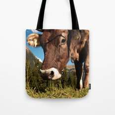 cute cow close Tote Bag