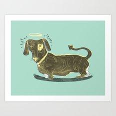 Bad Dog! (The Little Dachshund That Didn't) Art Print
