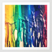crayons Art Print