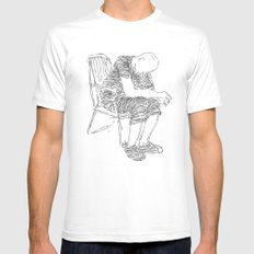 The Sitter White Mens Fitted Tee SMALL