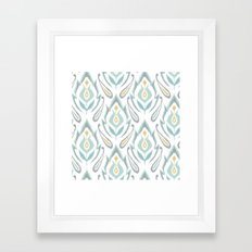 Soft Ikat Framed Art Print