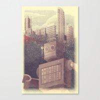 A City Snow-Bot Canvas Print
