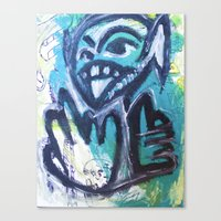 Canvas Print featuring Monsters by WIT Monster
