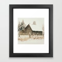 Rustic Winter Framed Art Print
