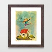 Happy Girl Framed Art Print