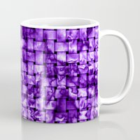 Purple Satin Weave Effect Mug