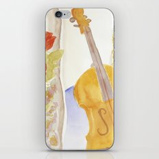 Violin and Roses iPhone & iPod Skin