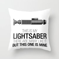 This Is My Lightsaber (L… Throw Pillow