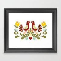 Vector Folk Art Design Framed Art Print
