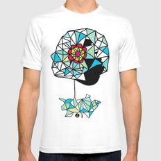 Float White SMALL Mens Fitted Tee