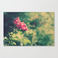 A Pink Rose For You Canvas Print