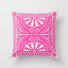 Fiesta de Flores Pink Throw Pillow