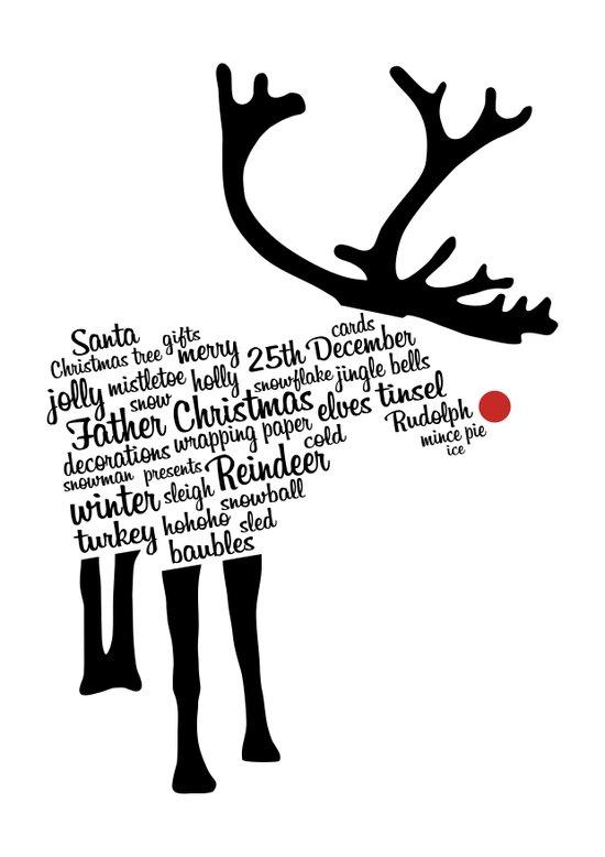 Rudolph Typography Art Print