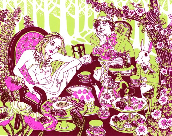 Alice at the Tea Party Art Print