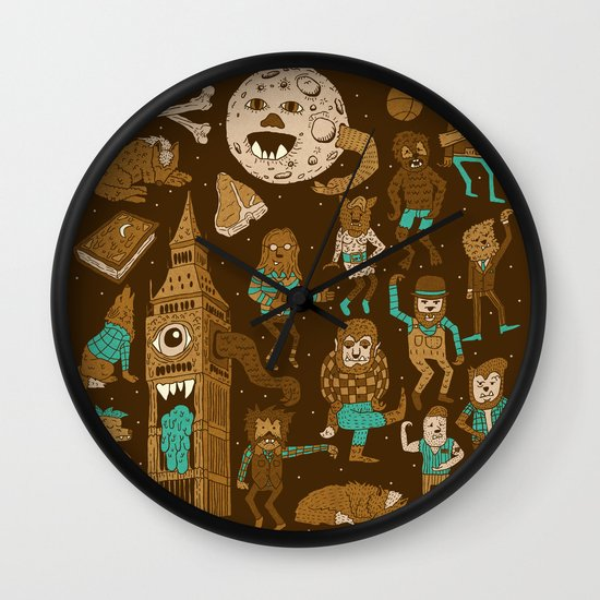 Wow! Werewolves!  Wall Clock