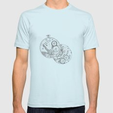 Pocket Watch Mens Fitted Tee Light Blue SMALL
