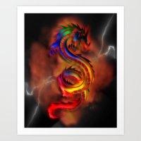 Dragon Two Art Print