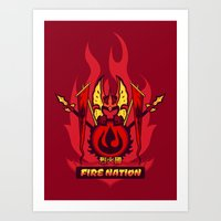 Avatar Nations Series - Fire Nation Art Print
