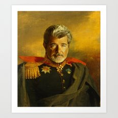 George Lucas - Replacefa… Art Print
